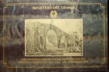 NL* ITALIA 500 LIRE ARGENTO 1991 PONTE MILVIO FDC SET ZECCA PERFETTO