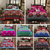 Bohemian Mandala Duvet Cover with Pillow Case Bedding Set Single Double King