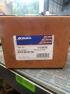 12368702 Genuine General Motors AC Delco Wiper Motor New Old Stock, sealed box