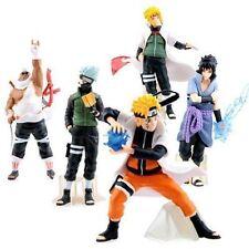 "Japanese Anime Naruto Figure Set: Kakashi Sasuke Killer Bee Minato 5 PCS 4"" New"