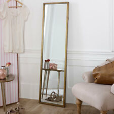 Hoch Gold Voll Länge Spiegel Metallisch Badezimmer Schlafzimmer Wandmontage Slim