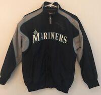Boys SIGNED #44 Majestic SEATTLE MARINERS Jacket Youth Size M Medium EUC!