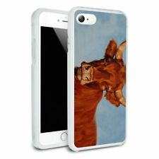 Brown Cow Cattle Horns Hybrid Rubber Bumper iPhone 7 and 7 Plus