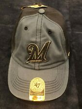 New with tags, Milwaukee Brewers baseball hat, size large, 47 brand