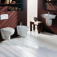 Sanitari sospesi bagno serie completa ceramica wc bidet copriwater e lavabo 65cm