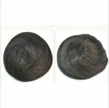 Women Straight Drawstring Clip In Hair Bun Piece Updo Cover Hair Extensions