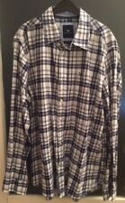Crew Clothing men's navy check shirt (size L/classic fit) - immaculate condition