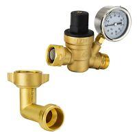 Brass Water Pressure Regulator Valve/90 Degree Elbow Fitting RV Plumbing Hookup