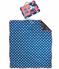 "Mickey Mouse 1928 Americana Stars Stripes Throw Blanket 70""x80"" Disney Store NEW"