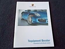 2008 Porsche Boxster &S Tequipment Brochure Accessories Catalog Wheels Wood PCM