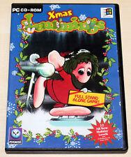 Xmas lemmings-PC CD ROM clásico-standalone Game-corderitos