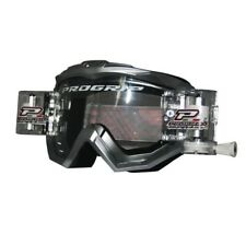 Progrip 3201-RO Race Line Motocross Goggles SILVER with RnR-XL-36mm Roll Off