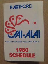 1980 Hartford Jai-Alai pocket schedule lot (2) Connecticut sked sports gambling
