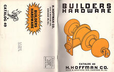 Builders Hardware Specialties Locksmith Supplies 1955 Catalog H Hoffman Company
