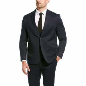 Kenneth Cole Reaction Ready Flex Slim-Fit Suit -Navy Subtle Stripe 38R 31x32