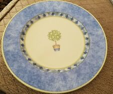 "Royal Doulton Carmina Harlequin 8 7/8"" Salad Plate Blue Yellow Lemons"