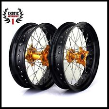 "Suzuki SUPERMOTARD RMZ 250 450  Wheels complete Wheel Set   17""2005/2015"