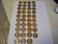 2 of Ea President P&D (78 Coins) 2007-2016 Complete Set $1 Golden Dollars. UNC!