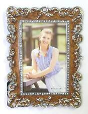 "4""x6""Feather Plumes w/Brown Epoxy Accent Photo Frame Item#157.FAST SHIPPING !!"