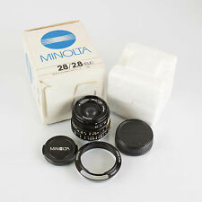 Minolta 28mm f2.8 M-Rokkor Lens 28/2.8 Leica M CL CLE
