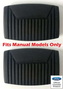Pair Brake Clutch Pedal Pads For 1975-2008 Ford F-150 - Manual Transmission