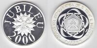 ST TOME PRINCIPE THOMAS SILVER 1000 DOBRAS PROOF COIN 1998 YEAR MILLENNIUM 2000