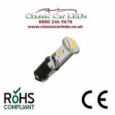 2 X WHITE BA7S GLB281 LED DASHBOARD GAUGE CLOCK SWITCH BULB CLASSIC CAR LLB281