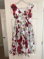 Dolce & Gabbana Authentic Floral Poplin Dress IT 42/ US 6