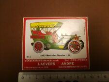 sticker MERCEDES SIMPLEX 1903 SCHERPENHEUVEL racing rally  GP F1 autocollant R6