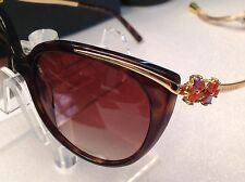 BVLGARI GOLD PLATED 8089-K 51933B HAVANA AMETHYST/BROWN LIMITED EDITION SUNGLAS