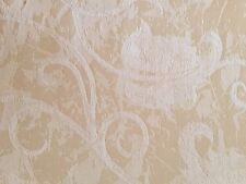 "2 Yards 56"" Cream White Floral Upholstery Craft Home Decor Fabric New"