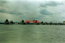 PHOTO  1994 THAMES FLOOD BARRIER APPROACHING IT FROM THE SEAWARD SIDE AT AROUND