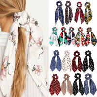 1PC Cute Floral Bow Scrunchie Hairband Elastic Ties Rope Scarf Hair Accessories