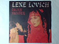 "LENE LOVICH Lucky number 7"" ITALY UNIQUE PICTURE SLEEVE"