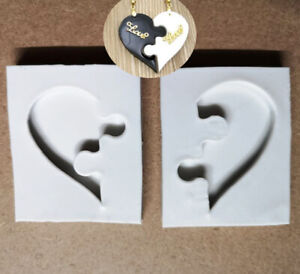Heart Love Mould Sugarcraft Baking Decorating Chocolate Necklace Pendant Mold