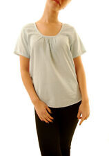 Sundry Women's Casual Short Sleeve Striped Blouse Blue US1 RRP £120 BCF611