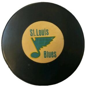 ST. LOUIS BLUES VINTAGE ART ROSS CONVERSE CCM TYER  OFFICIAL GAME PUCK MFG. USA