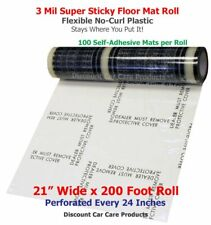 Sticky Floor Mats 21� Wide x 200' Roll | 24� Perforated Adhesive Floor Mats 3mil
