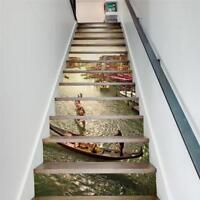 13pcs Staircase Stair Riser Fashion DIY Wall Floor Sticker Art Decor Decal