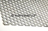 perforated sheet - galvanised steel - 1000mm x 500mm - 3mm thick with 5mm holes
