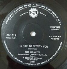 THE MONKEES It's Nice To Be With You Vinyl Single Record 45RPM 1968 Aus Press