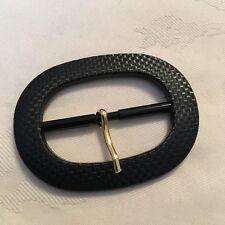 Black Plastic Belt Buckle 45mm Central Bar Ex John Lewis #878