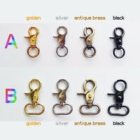 Swivel Keyring Leather Bag Belt Strap Dog Chain Clasp Clip Buckle Snap Trigger