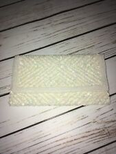 Ivory Colored Beaded Clutch