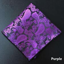 Newest  Paisley Floral Men Silk Pocket Square Hanky Wedding Party Handkerchief