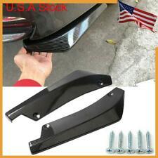 2x Carbon Fiber Rear Bumper Lip Diffuser Splitter Canard Protector for Honda VW
