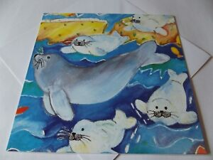 Story Of Sally Seal...Blank Birthday Greetings Card... By Prime Arts