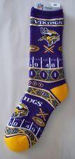 Minnesota Vikings Socks Large Size 10  to 13 Super Fan