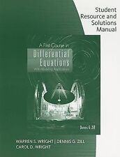 Student Resource with Solutions Manual for Zill's A First Course in Differential