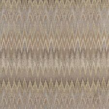C480 Gold, Beige and Platinum, Woven Flame Stitch Upholstery Fabric By The Yard